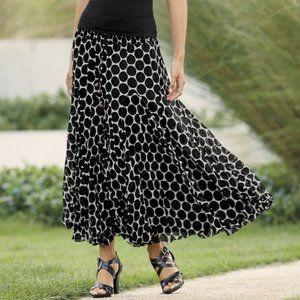 Monroe & Main You Dot It All Georgette Skirt